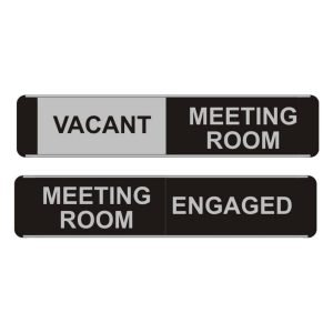Vacant Engaged Meeting Room Sliding Door Sign
