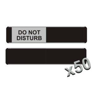 Do Not Disturb Sliding Door Signs x50