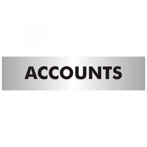 Accounts Office Door Sign