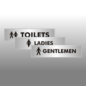 Set of 3 Toilets Signs