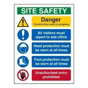 Site Safety Notice Board