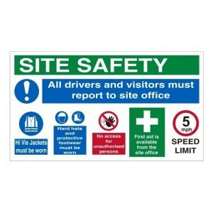 Site Safety Report To Site Office Sign