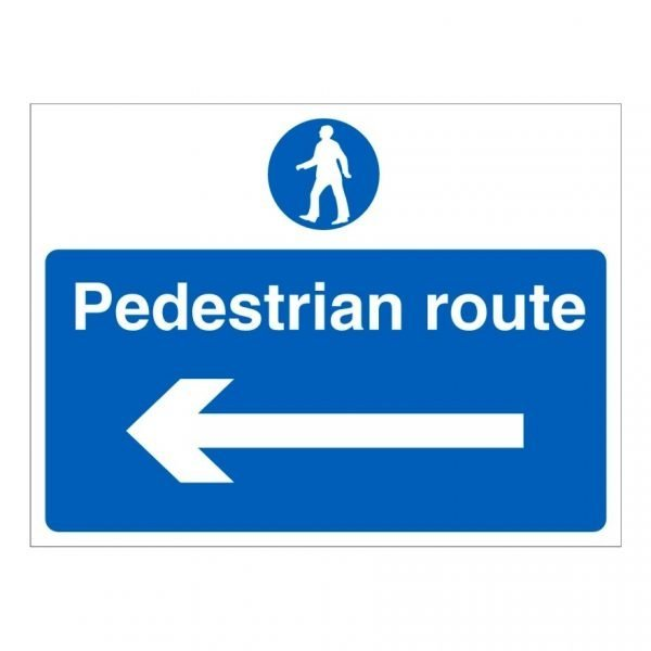 Pedestrian Route Left Sign
