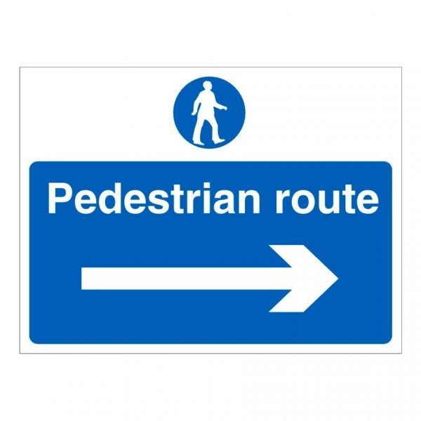 Pedestrian Route Right Sign