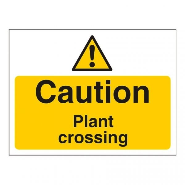 Caution Plant Crossing Sign