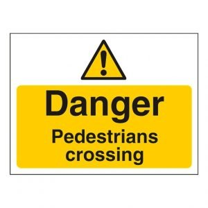 Danger Pedestrian Crossing Sign