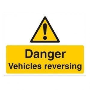 Danger Vehicles Reversing Sign
