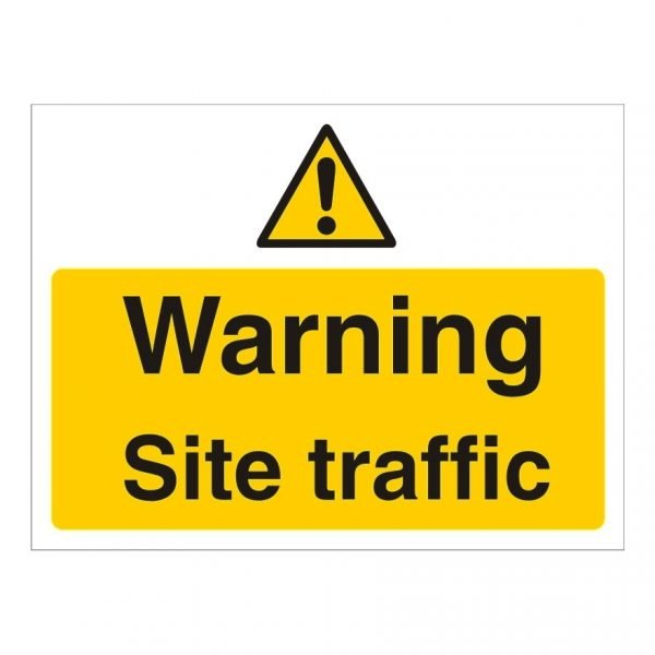 Warning Site Traffic Sign