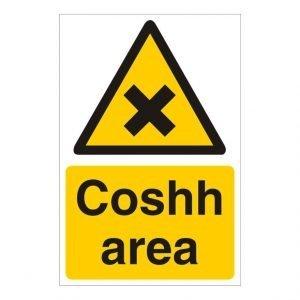 Coshh Area Sign