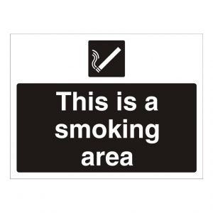 This Is A Smoking Area Sign