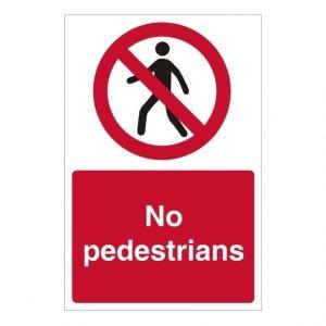 No Pedestrians Sign