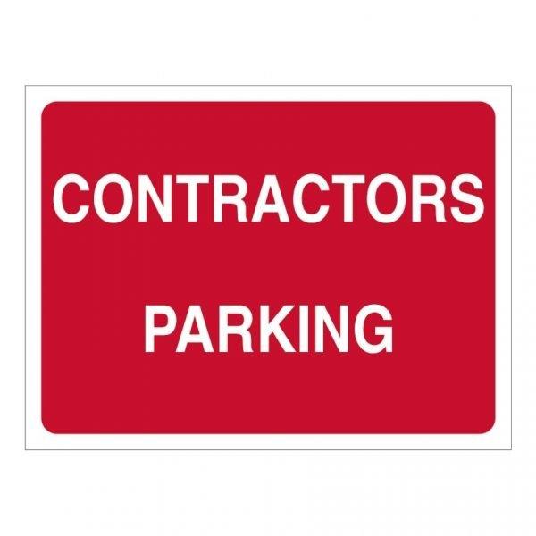 Contractors Parking Sign