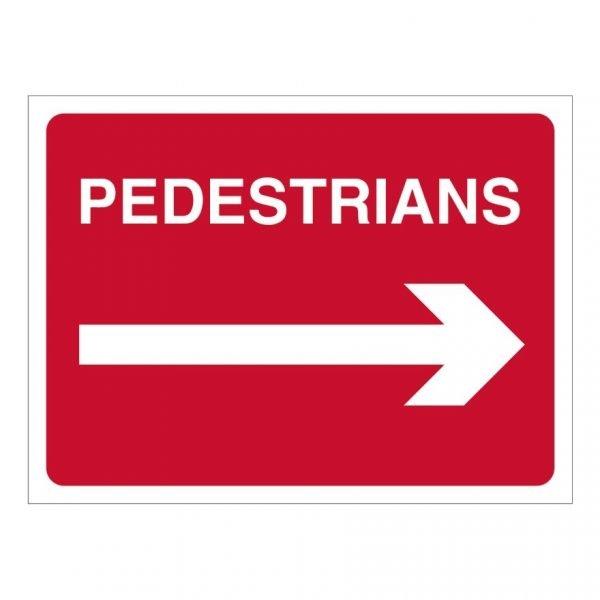 Pedestrians Right Sign