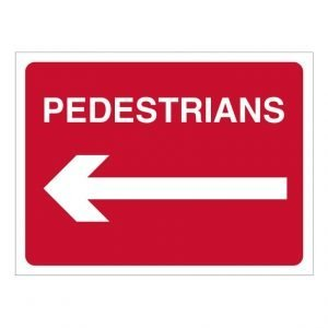 Pedestrians Left Sign