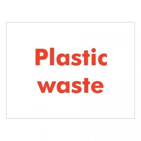 Plastic Waste Sign