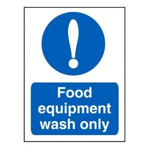 Food Equipment Wash Sign