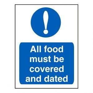 All Food Must Be Covered And Dated Sign