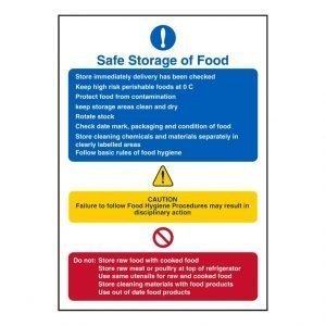 Safe Storage Of Food Sign