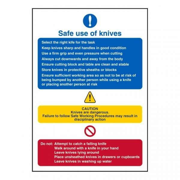 Safe Use Of Knives Sign