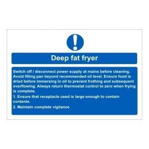 Deep Fat Fryer Sign