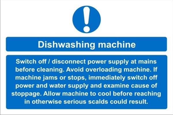 Dishwashing Machine Sign