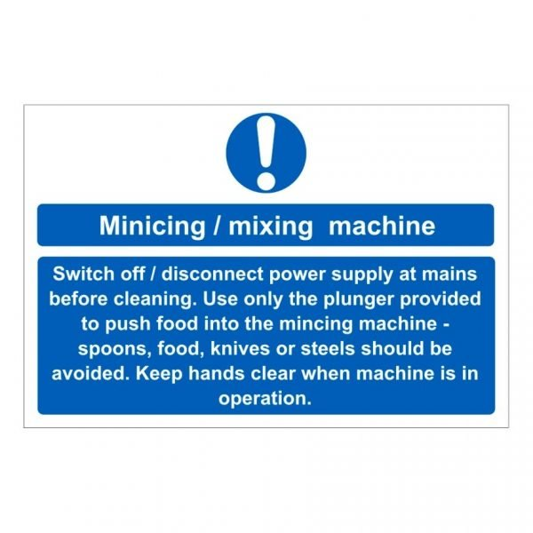 Mincing/Mixing Machine Sign