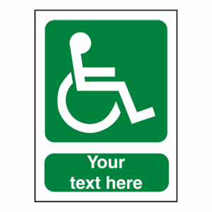 Custom Disabled Sign