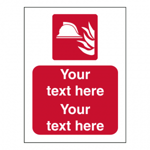 Custom Fire Action Sign