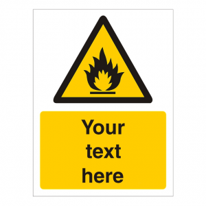 Custom Warning Sign Choice of Hazard Graphic