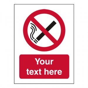 No Smoking Custom Sign