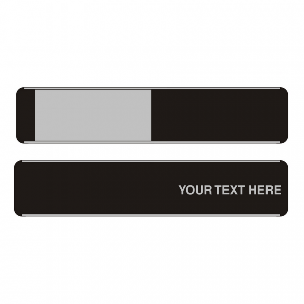 Custom Sliding Door Sign Single Backplate Text Only