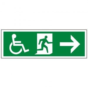 Disabled Running Man Arrow Right Sign
