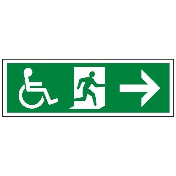 Disabled Running Man Arrow Right Sign