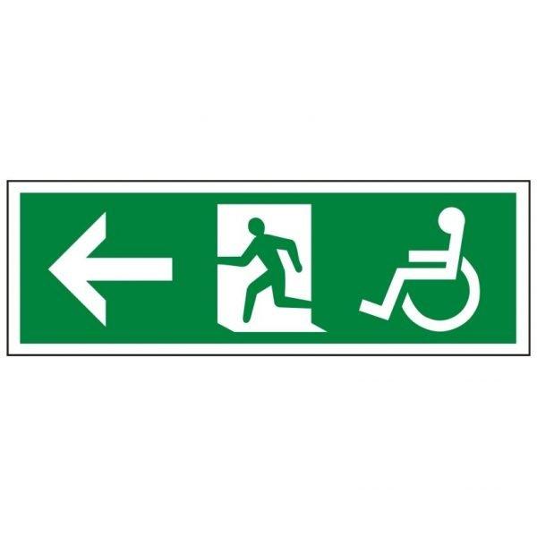 Disabled Running Man Arrow Left Sign