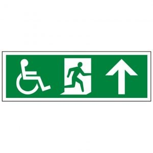 Disabled Running Man Arrow Up Sign