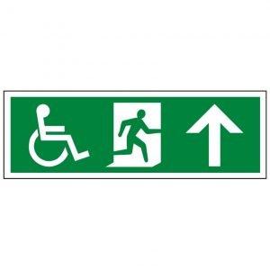 Disabled Running Man Arrow Up Sign