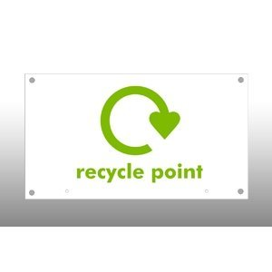 Recycle Point Header Sign