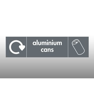 Aluminium Cans Recycling Point Hanging Sign