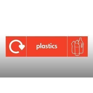 Plastics Recycling Point Hanging Sign