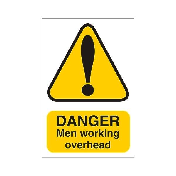 Men Working Over Head Sign