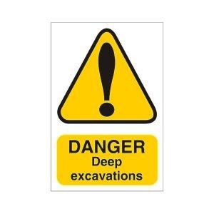 Danger Deep Excavations Sign