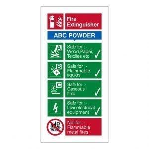 Fire Extinguisher ABC Powder Sign