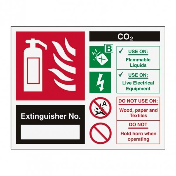 Extinguisher No Carbon Dioxide Sign