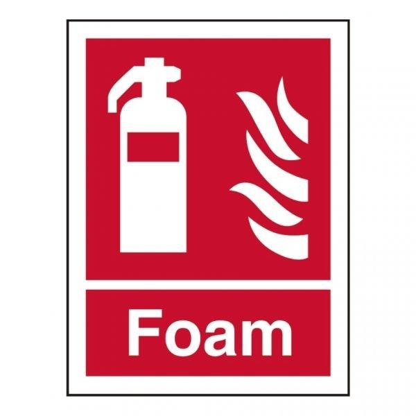 Fire Extinguisher Foam Sign
