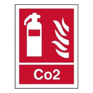 Fire Extinguisher Carbon Dioxide Sign