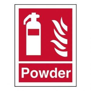 Fire Extinguisher Powder Sign