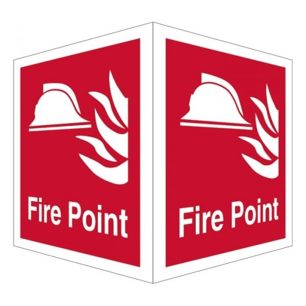 Fire Point Double Sided Sign