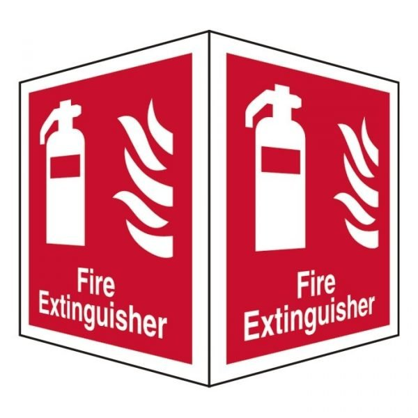 Fire Extinguisher Double Sided Sign