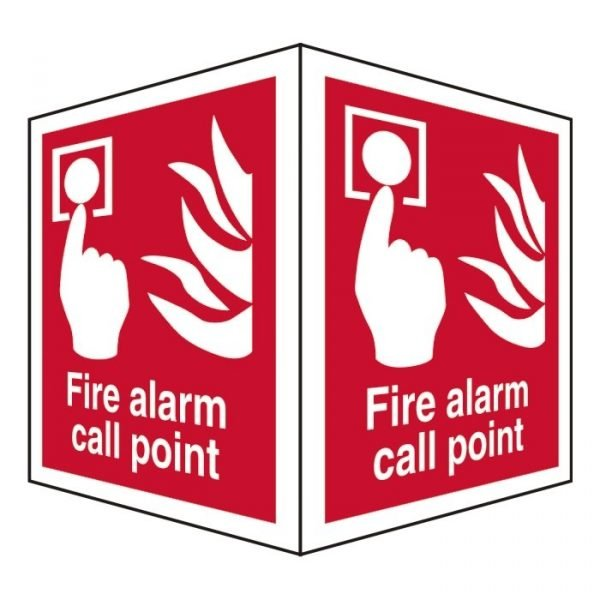 Fire Alarm Call Point Double Sided Sign