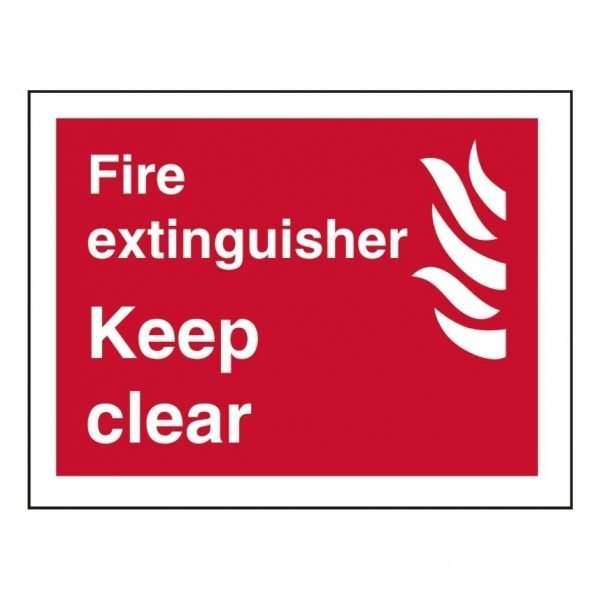 Fire Extinguisher Keep Clear Sign